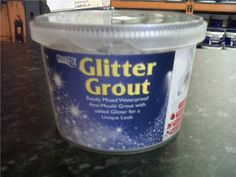 Glitter Grout for the kids bathroom!  Fun!