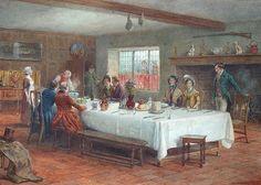 George Goodwin Kilburne - A Meal Stop at a Coaching Inn