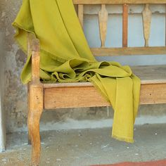 Citrine Linen Throw with Fringes Lara @linenme.com
