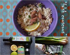Falsk couscous - blomkålssalat med forårsløg, ristede mandler og parmasan (og en nem dressing direkte til hitlisten)