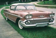 Just like my 1958 pink (salmon) Chevy Impala.  Loved it!