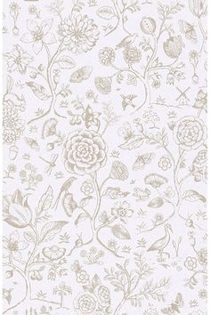 Pip Studio the Official website - Spring to Life two tone wallpaper off white Wallpaper Off White, How To Hang Wallpaper, Plant Wallpaper, Animal Wallpaper, Textured Wallpaper, Wall Wallpaper, Pattern Wallpaper, Pip Studio, Eclectic Wallpaper