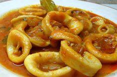 Una receta que gusta mucho muchísimo en casa son estos calamares en salsa, una receta facilita que soluciona más de una cena y de esa... Italian Recipes, Mexican Food Recipes, Vegan Recipes, My Recipes, Cooking Recipes, Favorite Recipes, Easy Eat, Latin Food, Light Recipes