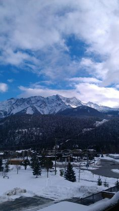 #Pemberton view of #MountCurrie from Pemberton GatewY Village Suites Hotel:##Mountain+#Snow