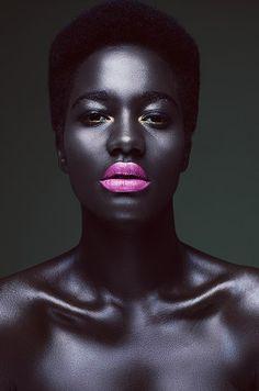 My Booker Management Agency - Ideline Akimana - model and talent portfolios - Beauty Black Women Art, Beautiful Black Women, Black Girls, Beautiful Lips, Black Art, Beautiful Images, Poses, Hot Pink Lipsticks, Natural Blush