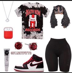 Cute Lazy Outfits, Baddie Outfits Casual, Swag Outfits For Girls, Cute Outfits For School, Teenage Girl Outfits, Cute Swag Outfits, Girls Fashion Clothes, Teen Fashion Outfits, Retro Outfits
