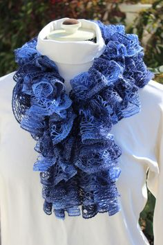 Sashay Scarf - Rumba Blue. $28.00, via Etsy. - Short Version