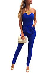 95ff5c0d8e Women s Sexy V-Neck Strapless Jumpsuit