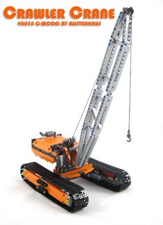 In anticipation of the Technic crawler crane which will be released in 2015 by Lego, here is an alternate model for the 42038 set. Lego Crane, Technique Lego, Lego Technic Sets, Construction Lego, Crawler Crane, Lego Ship, Big Rig Trucks, Lego Group, Lego Models