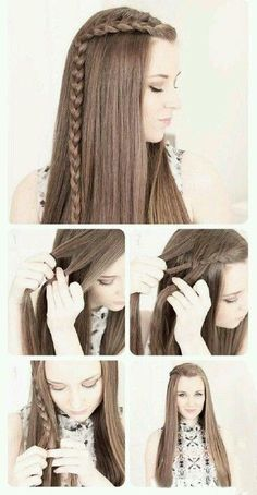 Quick And Easy Hairstyles For School : Not going on any first dates but the hair styles are cute. Quick, Easy, Cute an Quick And Easy Hairstyles For School : Not going on any first dates but the hair styles are cute. Quick Easy Cute an Super Easy Hairstyles, 5 Minute Hairstyles, Easy Hairstyles For Long Hair, Pretty Hairstyles, Hairstyle Ideas, Back To School Hairstyles For Teens, Makeup Hairstyle, Hair Ideas, Hairstyle Tutorials