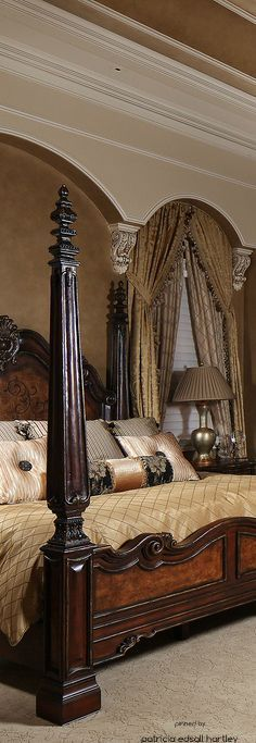 Tuscan design – Mediterranean Home Decor Tuscan Style Homes, Tuscan House, Tuscany Decor, World Decor, Mediterranean Home Decor, Tuscan Decorating, Dream Decor, Luxurious Bedrooms, Beautiful Bedrooms