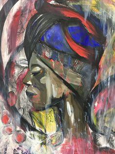 """Abstraction of Identity"" Megan Morris  (Acrylics)"