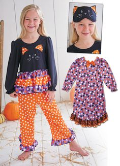 Cat and Dot Halloween Pajamas Best Pajamas 4d7010644