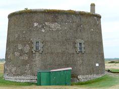 Martello Tower in Old Felixstowe.