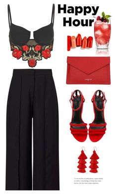 """""""Let's Take A Drink"""" by melaniemeran ❤ liked on Polyvore featuring Jaded, Miss Selfridge, Lancaster, Alexander Wang and BaubleBar"""