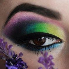 Colorful Eye make up Makeup Geek, Makeup Art, Beauty Makeup, Hair Makeup, Makeup Ideas, Makeup Designs, Gorgeous Makeup, Love Makeup, Makeup Looks