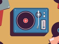 Record Player by Sean Kerry #Design Popular #Dribbble #shots