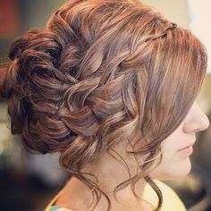 Beautiful Side Braid Updo