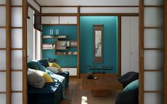 """Picture from """"Nihon no Kanji"""" - project by interiordelight. A Japanese inspired home Traditional Interior, Nihon, Japanese, Interior Design, Inspired, Bed, Behance, Design Projects, Furniture"""
