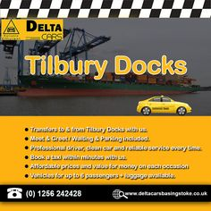 Taxi Transfer Services from & to Tilbury Docks St John's Church, London Airports, Church Of England, Cruise Port, River Thames, North Sea, Portsmouth