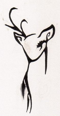 deer tattoo; The deer represents kindness.