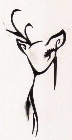 deer tattoo; The deer represents kindness.