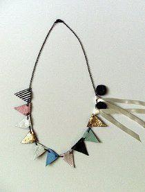 DIY Anthropologie Bunting Necklace