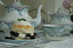 Biscuits~ cream ~blackberries at your tea