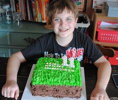 Celebrating-with-a-Minecraft-birthday-cake