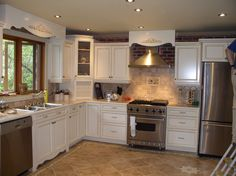 3 Gifted Tricks: Simple Kitchen Remodel Before And After kitchen remodel design ceilings.Small Kitchen Remodel Ranch kitchen remodel layout tips. Menards Kitchen Cabinets, Kitchen Cabinets Pictures, White Kitchen Backsplash, Diy Kitchen, Backsplash Ideas, Kitchen Ideas, Kitchen Paint, 1960s Kitchen, Kitchen White