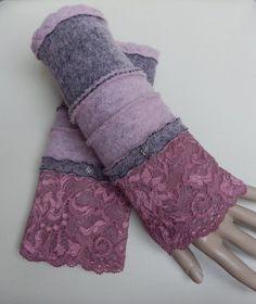 Armstulpen - Walkstulpen Stulpen Armstulpen Pulswärmer rosé - ein Designerstück von Carins-Mode bei DaWanda
