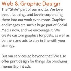 We make you look great everywhere online from your #socialmedia posts to your #webdesign #getsocial #wecandoitforyou