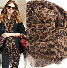 Free Shipping  Women sought after worldwide Leopard Scarf  spring shawl