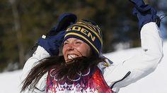 Charlotte Kalla gets Sweden's first medal!