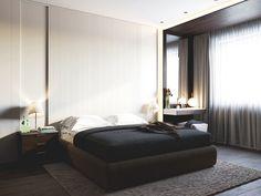Modern interior bedroom on Behance
