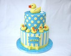Birthday Cake Photos - 5 little ducks first birthday cake for little Avina!