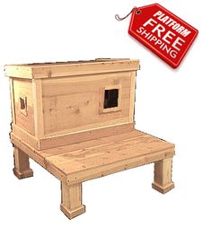 LARGE Warm Insulated Outdoor Cat House & Homes for Feral Strays - Ark Workshop
