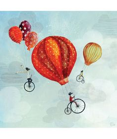Cyclistes in volo - In volo - THEMES DECO Plus