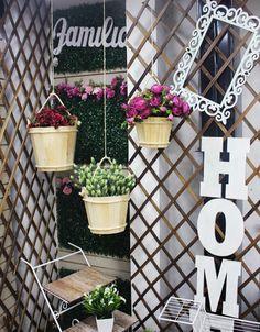 Madera, letras, flores, marcos Ladder Decor, Outdoor Structures, Vintage, Home Decor, Frames, Lyrics, Wood, Flowers, Homemade Home Decor
