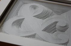 Ampersand (Grey) - hand-cut paper art