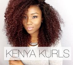 KENYA KURL- Matches This hair is virgin and unprocessed and comes in a natural brown color (Somewhere in-between a and Available in. Dyed Curly Hair, Curly Hair Styles, Natural Hair Styles, Rock Your Hair, Afro Textured Hair, Black Girls Hairstyles, Ginger Hair, Hair Looks, Hair Color
