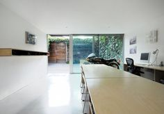 A Model for Affordable Living in Shoreditch - Remodelista Floor Shelf, Kensington And Chelsea, Facade House, Concrete Floors, Modern Architecture, Property For Sale, Modern Design, Yard, Flooring
