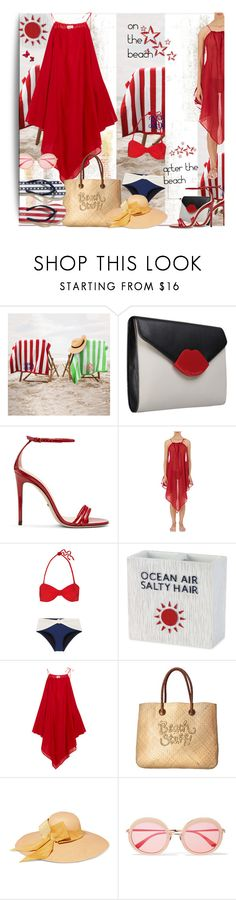 """""""From PV's Top Products for July 11, 2017"""" by lavendergal ❤ liked on Polyvore featuring Lulu Guinness, Gucci, On the Island, Solid & Striped, Avanti, Marios Schwab, White Stuff, Sensi Studio, Sunday Somewhere and Hollister Co."""