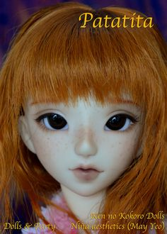This is the Patatita head I donated for Dolls Party Barcelona last summer. May Yeo made a beautiful work with her faceup  This pic is property of Dolls Party, I don't know who is the owner now  #bjd #knk #kennokokoro #patatita