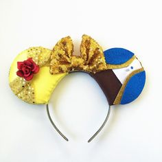 Beauty and the Beast Ears, Belle Ears, Belle Mickey Ears, Disney Inspired Beauty and the Beast Ears, Ready to Ship, Beast Ears, Beauty by ToNeverNeverland on Etsy https://www.etsy.com/listing/260659632/beauty-and-the-beast-ears-belle-ears