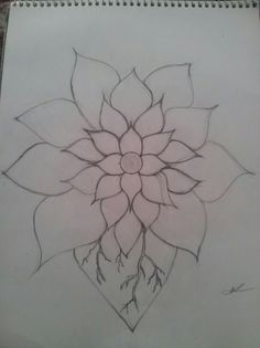 Easy drawing of a flower.