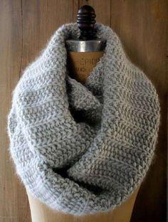 Bufandas de crochet: Fotos de diseños - Diseño de bufanda de crochet en color gris