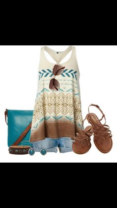 Brown and turquoise  love it