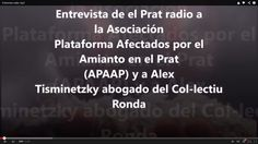 Entrevista de el Prat radio a  la (APAAP) y a Alex  Tisminetzky abogado ...