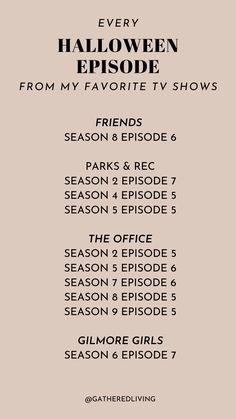 A List Of All The Best Halloween Tv Episodes Friends Best